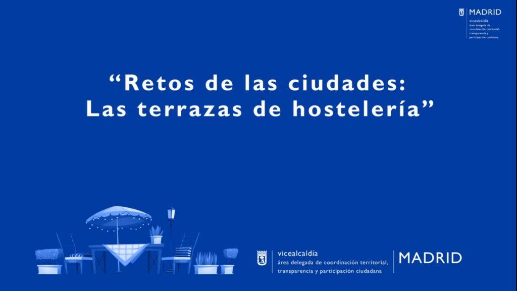 """Jornadas Internacionales """"Retos de las Ciudades: Las Terrazas de Hostelería"""""""