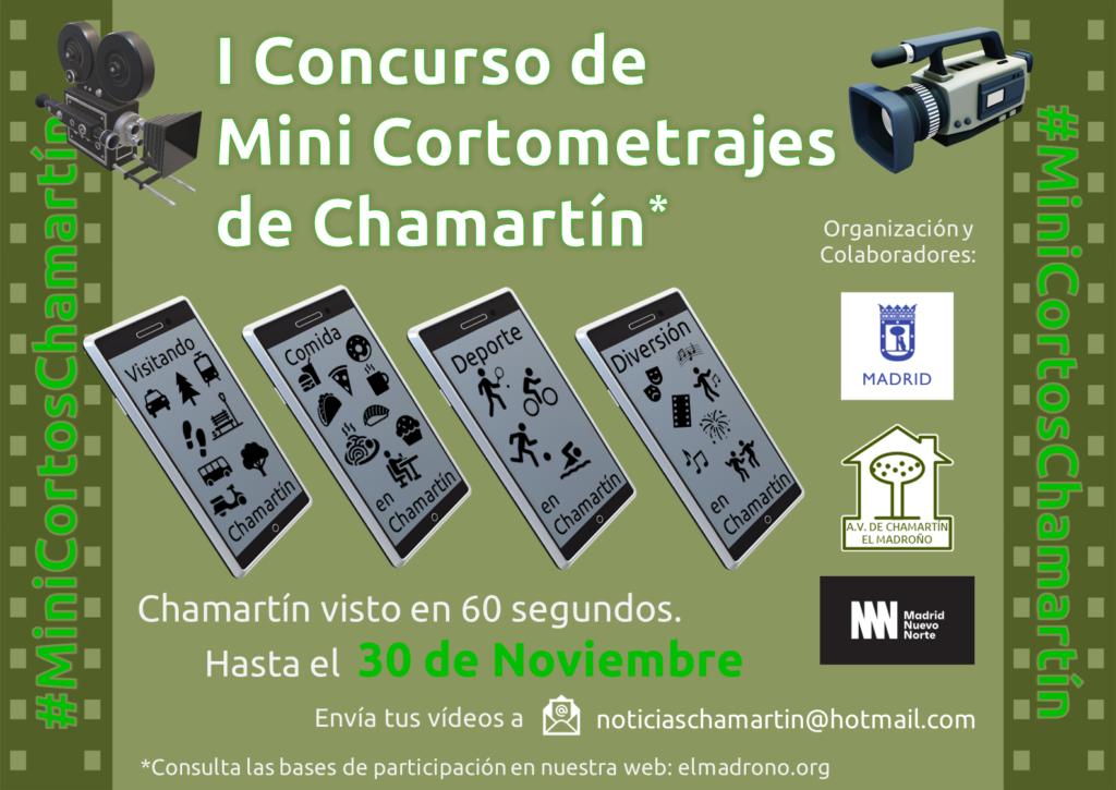Cartel I Concurso de Mini Cortometrajes de Chamartín